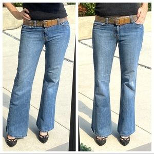 LUX Hip huggers Low rise flare JEANS wide leg 29